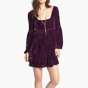 Free People Crushed Velvet Baby doll dress
